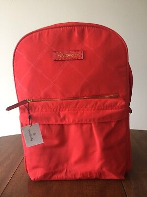 Vera Bradley Preppy Poly Large Backpack Tango Red Water Repellent NWT