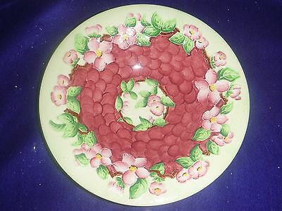 """Maling """"Blossom bough - Ruby Ground"""" Lustre Dish"""