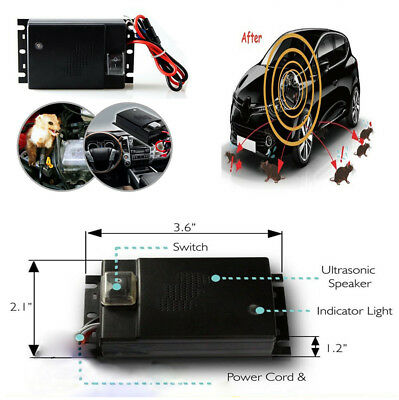 Car Rat Mouse Repeller Ultrasonic Rodent Repellent Dedicating Double Wave Driver