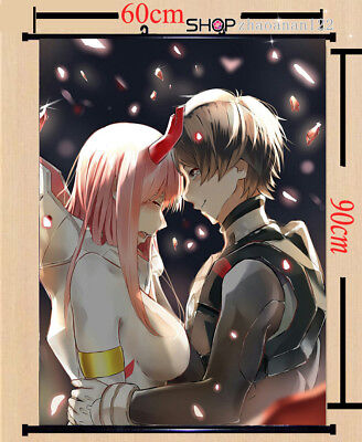 Anime zero two darling in the franxx hiro Poster Wall Home Scroll Decor Gift