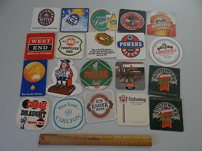 20 x MIXED COLLECTABLE BEER COASTERS/MATS LD4