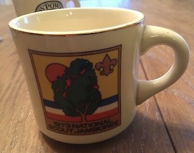 1973 NATIONAL SCOUT JAMBOREE Ceramic Coffee Cup Mug BOY SCOUTS OF AMERICA BSA