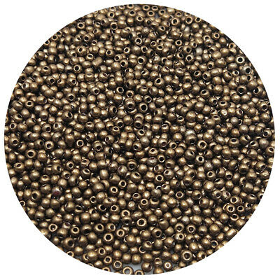Lot of 2500pcs DIY 11/0 Rocaille 1.8mm Small Round Glass Seed Beads Bronze