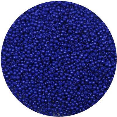Lot of 2500pcs DIY 11/0 Rocaille 1.8mm Small Round Glass Seed Beads Dark blue