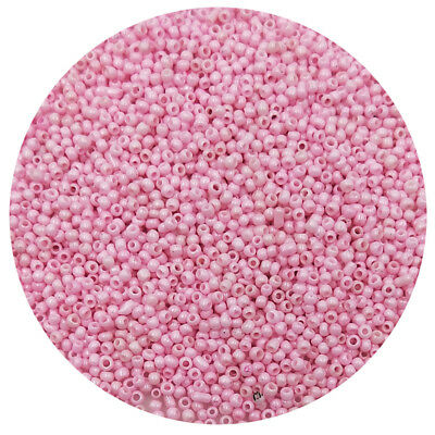 Lot of 2500pcs DIY 11/0 Rocaille 1.8mm Small Round Glass Seed Beads Pink