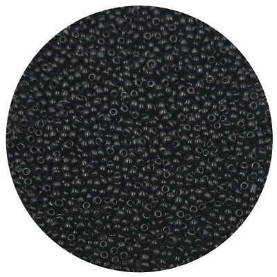 Lot of 2500pcs DIY 11/0 Rocaille 1.8mm Small Round Glass Seed Beads black