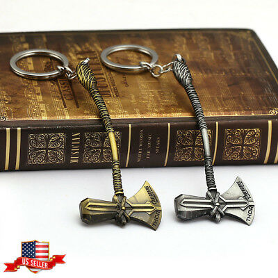US! Avengers 3 Infinity War Thor Stormbreaker Axe Hammer Weapon Keychain Gifts