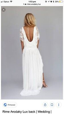 Romantic French wedding dress Rime Arodaky, Lux dress Size 6