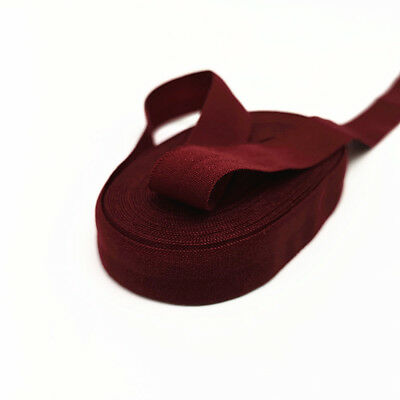 "5/8""(15mm) Elastic Band Multirole Spandex Ribbon Sewing Trim Waist Band Deep Red"