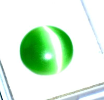 8.80 Ct Antique Gem Ggl Certified Natural Green  Apatite Cats Eye