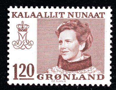 Greenland 1978 120 Ore Carmine-Brown Queen Margrethe II Mint Unhinged