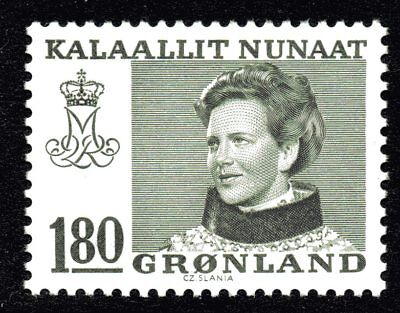 Greenland 1978 180 Ore Dark Olive Queen Margrethe II Mint Unhinged