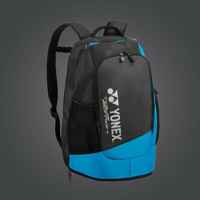 New 2018 Yonex BAG9812EX  Backpack Black/Blue For Tennis Badminton Squash