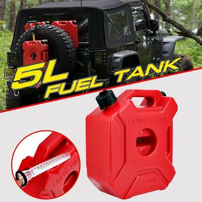 5L/1.3 Gallon Gas Gasoline Fuel Tank Container Jerry Can Emergency Spare Offroad