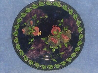 """Maling """"Pomegranate"""" Lustre Charger Plate (c1930)"""