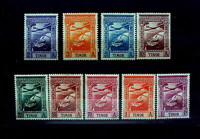 TIMOR,Portugal Bes.,Luftpost 1938. IMPERIO COLONIAL PORTUGUES,Komplett-Set.