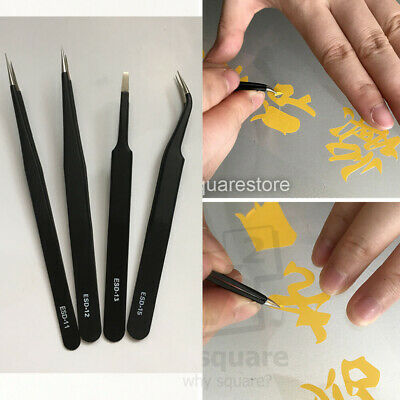 Stainless Steel Precision Pro TWEEZERS Car Vinyl Sign Weeding Remover Sharp Pick