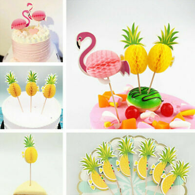 Party Decor Stereo Pineapple Flamingo Fruit Toothpick Party Decoration