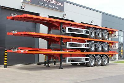 2018 Kassbohrer PSK Tri Axle Flat Trailer Comes With Bolsters