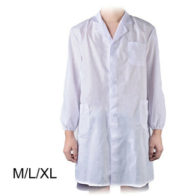 Weißer Laborkittel Unisex Doctor Medical Hospital Uniform M/L/XL Partykostüm