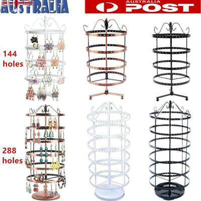 144 Holes Earring Jewelry Necklace Display Rack Metal Stand Holder Organizer AU