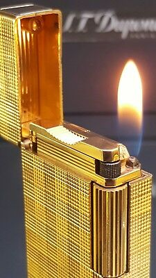 ST DuPont Lighter Gold Line 1 Large Rare Functional Warranty Stunning Excell F39