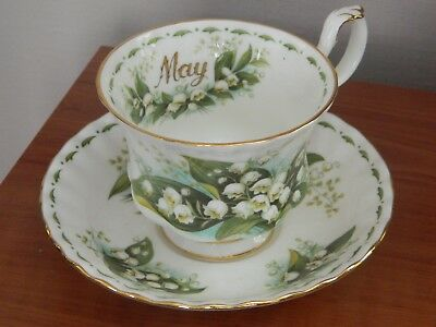 Tasse et soucoupe muguet May Royal Albert Lily of the Valley  England 1970