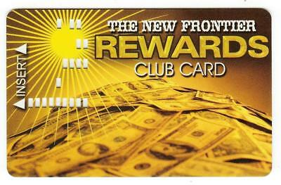 THE NEW FRONTIER*REWARDS CLUB PUNCHED STYLE *BLANK *Slot/Players card*Free Ship