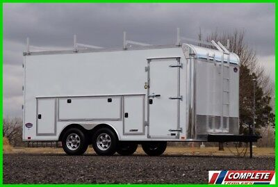 NEW 8.5x16 Heavy Duty Enclosed Commercial Grade Cargo Contractor Trailer 10k GVW