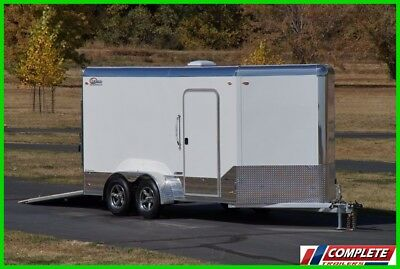 Premium! LEGEND Aluminum 7 X 17 Enclosed Cargo Motorcycle Trailer: Torsion VIDEO