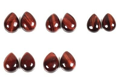 Amazing RED TIGER EYE Gemstone 14x10 mm PEAR 1 Pair Choose From Variation#39755