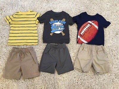 Toddler Boys Clothing LOT summer T-Shirts and shorts Size 2T