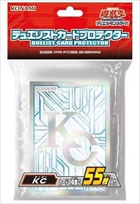 ☆F/S☆NEW!! Konami Official Yugioh Card Sleeves, KC Kaiba Corp(55 Sleeves)Sealed