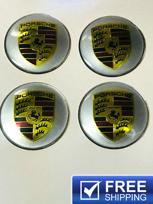 For Porsche Wheel Emblem Logo Badge Center Cap Stickers 65Mm