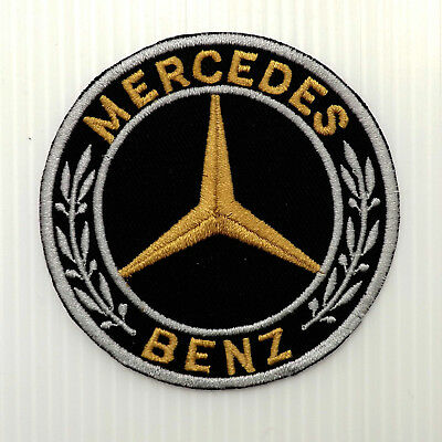 """3.0""""x1p. mercedes benz motor emblem logo embroidered iron on sew patch badge arm"""
