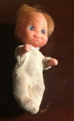 Mattel vintage 1973 sunshine Happy Family Baby Doll Blue Eyes