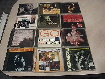 Mixed lot of 12 Jazz CD's nice shape-FROM ESTATE lot 6