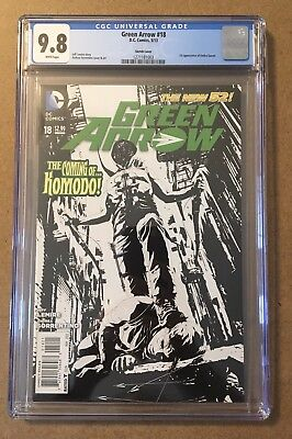 Green Arrow # 18 CGC 9.8 1st App of Emiko Queen Red Arrow only 9.8 In Census!!