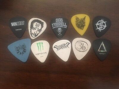 Lot #2.  10 Guitar Picks , including Volbeat