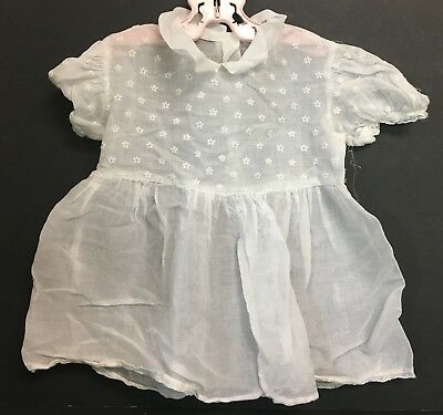"""Vintage 1950's Toddlers Tagged """"SOUTHERN BELLE FROCKS"""" Sheer Embroidered Dress"""