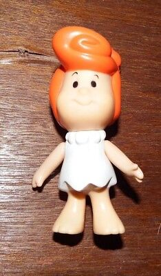 RARE Vinyl The Flintstones Kids Wilma baby toddler figure toy 1986 Vintage Retro