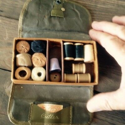 WW2 US Army Military Sewing Kit with Contents