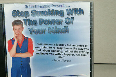 New * Robert Temple * Hypnotist * Stop Smoking With The Power Of Your Mind * Cd