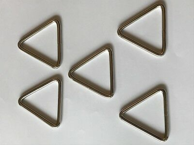 "5-pack Triangle Rings Tri-Ring 1-1/2"" x 1-1/2"" x 1-1/2"" Nickel Plated Boat Bag"