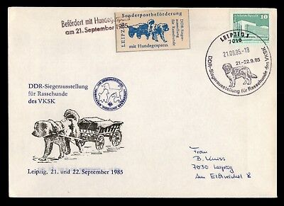 Dr Who 1985 Germany Dog Cart Fdc Pictorial Cancel Imperf C21765