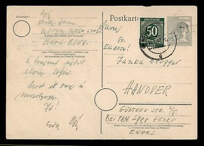 DR WHO 1935 GERMANY CANCEL UPRATED POSTAL CARD  d18298