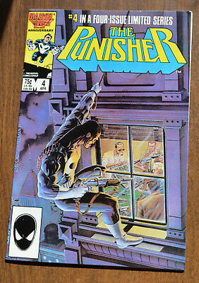 The Punisher #4 Limited Series - 1985 - Very Fine + VF+ - Marvel Comics