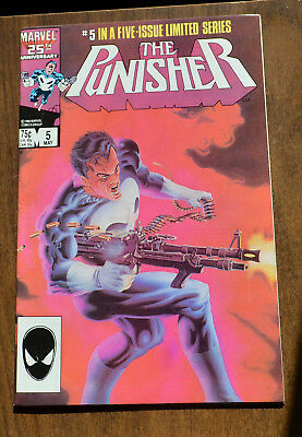 The Punisher #5 Limited Series - 1985 - Very Fine + VF+ - Marvel Comics