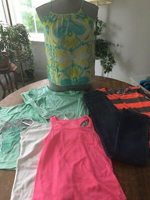 7 Pc Lot Of Justice Gap Girls Sz 10-12 Shirts Jeans Outfit Swimsuit