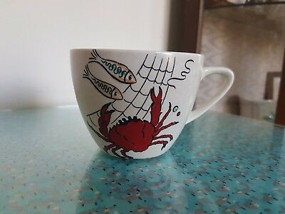 Vintage Crown Devon Oceania 1950s tea/coffee cup in excellent condition